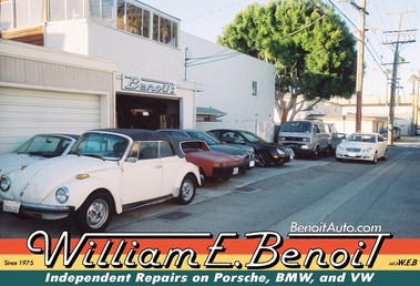Benoit William E Independent Repairs On Porsche-Vw-Bmw-Mercedes