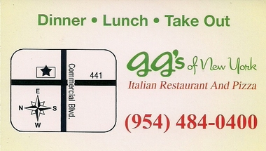 G G's Of New York Italian Restaurant And Pizza